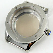 brushed 42mm PARNIS 316L steel sapphire glass Watch Case fit NH35 NH36 MOVEMENT