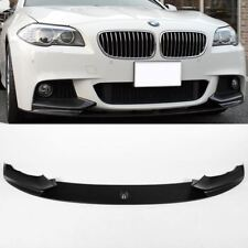 BMW 5 Series F10 11-17 Black Matte Front Spoiler Splitter Diffuser M Performance
