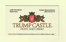 TRUMP CASTLE CASINO BUSINESS CARD ATLANTIC CITY NJ DONALD'S 1985 -1997  MINT