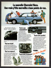 1986 CHEVROLET Nova Vintage Original Print AD - Blue car photo 4-door sedan