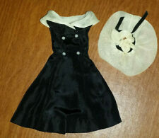 Original Barbie 1962 After 5 Black Dress & Organdy Hat Only #934 Tagged No Doll