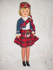 "Beautiful-Vtg-20""-Sc otish Scotland Sleep Pinwheel Eye Kilt Doll"
