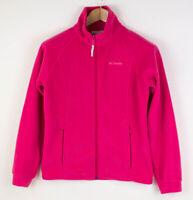 Columbia Kinder Reißverschluss Fleece Strickjacke Pullover Größe 14/16 AGZ256
