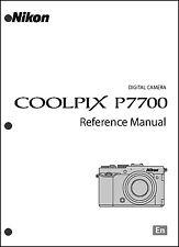 Nikon CoolPix P7700  Digital Camera User Guide Instruction  Manual