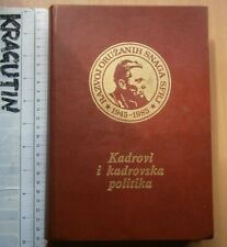 1989 Yugoslavia Army Book military secret Armed Forces Staff Human Resource Tito