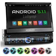 "AUTORADIO CON ANDROID 5.1 7"" TOUCHSCREEN WIFI OBD BLUETOOTH NAVI USB SD RDS 1DIN"