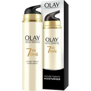 Olay Total Effects 7 in One Moisturiser Mature Therapy 50ml with Soy + Ginger
