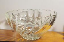 """CLEAR Glass Salad Or Serving Bowl SIZE 5.5""""tall open 10.5"""""""