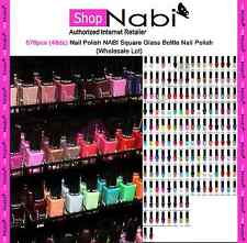 576pcs (48dz) Nail Polish NABI Square Glass Bottle Nail Polish(Wholesale Lot)