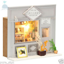 DIY Handcraft Miniature Project Dolls House European Shop The Street Gallery