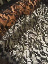 36 yards 55 Inches Wide Black Rose Victorian Lace Fabric Sewing Halloween Fun!