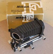 NIKON PB-4 in box Bellows Focusing attachment w/ swing shift adjustment EXC PB4