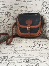 VTG 90's Dooney & Bourke Purse Crossbody/Shoulder Bag AWL Black/Brown Leather