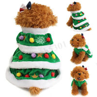 Christmas Tree Pet Dog Cat Coat Puppy Sweater Clothes Costumes Apparel Cute