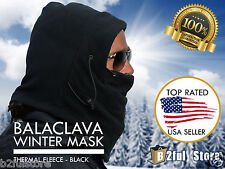 Fleece Winter Tactical Heavyweight Balaclava Thermal Neck Face Mask Hood Hat Ski