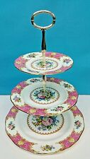 ROYAL ALBERT LADY CARLYLE 3 TIER CAKE SERVING PLATES, NEW