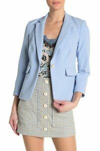 Veronica Beard SchoolBoy Dickey Blazer Light Blue Size 6 MSRP: $600.00