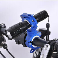AU_ 360 Degree Bike LED Flashlight Mount Holder Lamp Stand Bicycle Torch Clip Cl