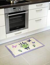 Fußmatte Kunstfaser Motiv Lavendel in beige/ lila Schmutzfangmatte Türmatte Läuf