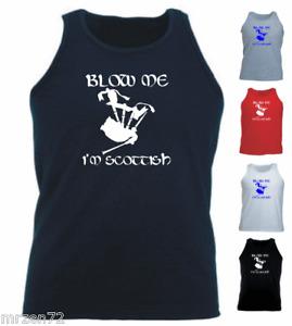 Blow Me I'm Scottish Athletic Vest Tank Top