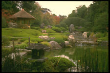 334064 Kyoto temple Garden Watercourse And Pavilion A4 Photo Print