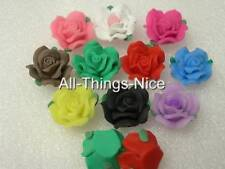 POLYMER FIMO CLAY ROSE 20mm Beads Findings WHOLESALE 20