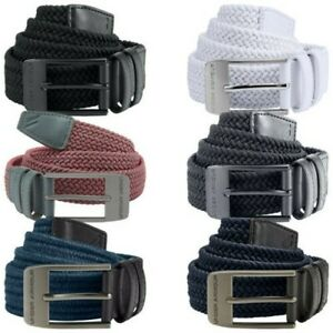 2021 Under Armour Mens Braided Elasticated 2.0 Belt - UA Golf Woven Stretch Fit