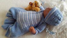 Baby Knitting Pattern DK5 TO KNIT Romper Hat Booties Boys Girls or Reborn Dolls