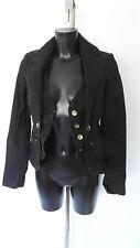 FORNARINA alexa black denim jacket. Sz XS uk 6 - 8 NEW WT £245 (20)