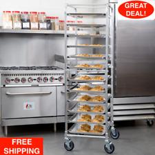 12 Pan Aluminum End Load Bakery Bun Sheet Pan Speed Rack Unassembled