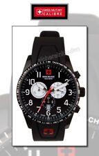 swiss military CHRONO, Armbanduhr Militär-Chronograph schwarz #064R4s