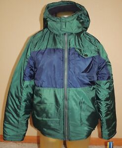 Nautica Boys XL 18 20  Dark Green Water Resistant Fiber Fill Winter Coat Jacket