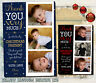 10 Personalised Christmas Thank You Photo Cards Pack + Envelopes Xmas Gift Kids