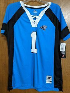 Carolina Panthers  NFL Fan Fashion JERSEY/Shirt  MAJESTIC  Womens Large NWT $60