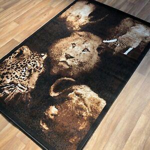 Quality Rug 100cm x 150cm animal cubs print  kids bedroom lounge playroom (616)