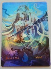 Foil Basic Land Island   MTG custom altered full art land EDH Commander