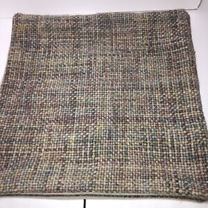 Pottery Barn Renly Wool Embroidered Pillow Covers Multi Color Warm Tones Boho