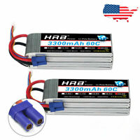 2pcs HRB Lipo Battery 22.2V 6S 3300mAh 60C EC5 for RC Helicopter Car Boat Drone