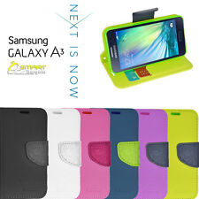 Diary Wallet Flip Case Cover For Samsung Galaxy A3 A330 A330Y+ Screen Guard