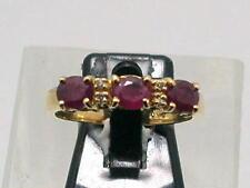 RUBIN BRILLANT BAND DESIGN RING IN 750/000 GELBGOLD GR55 LUXUS PUR 1,20ct. X399