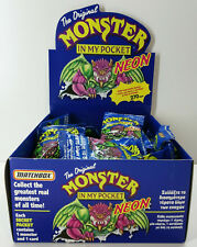 BRAND NEW & ULTRA RARE MONSTER IN MY POCKET NEON MIMP SERIES 1 GREEK 25 x PACK