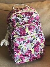 Kipling Seoul Go Backpack Laptop Protection Travel School Bag Flowers NWT
