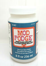 Mod Podge Super Gloss 8oz Decoupage Finish Coat Glue Plaid