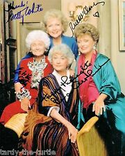 Golden Girls TV Series #1 Autograph Reprint Betty White Bea Arthur Estelle Getty