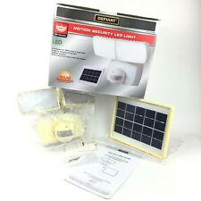 New listing Defiant 180° White Solar Powered Motion Led Security 1K Lumen Led Floodlight $85