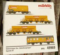 Märklin 49969 H0 Güterwagen-Set DB Bahnbaugruppe 4-teilig Epoche 6,MHI neuwertig