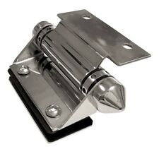 The Architects Choice WALL/POST TO GLASS GATE HINGE 46x55x110mm Mirror Polish