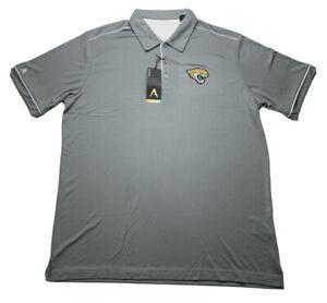 Antigua Men's Jacksonville Jaguars Polo Golf Shirt Short Sleeve Gray XLarge