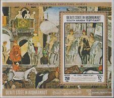 Aden - Qu´AITI Toestand Blok 19A (compleet.Kwestie.) postfris MNH 1967 Paarden-S