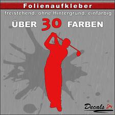 Golfer Aufkleber Folienaufkleber Auto/Motorrad Golf/Sport - 30 Farben - H: 10cm